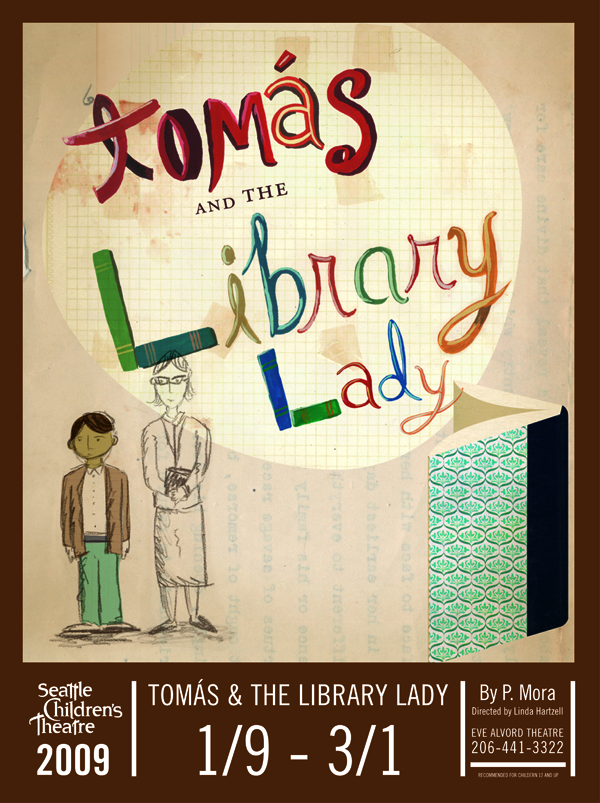 TomasLibraryLadyposter